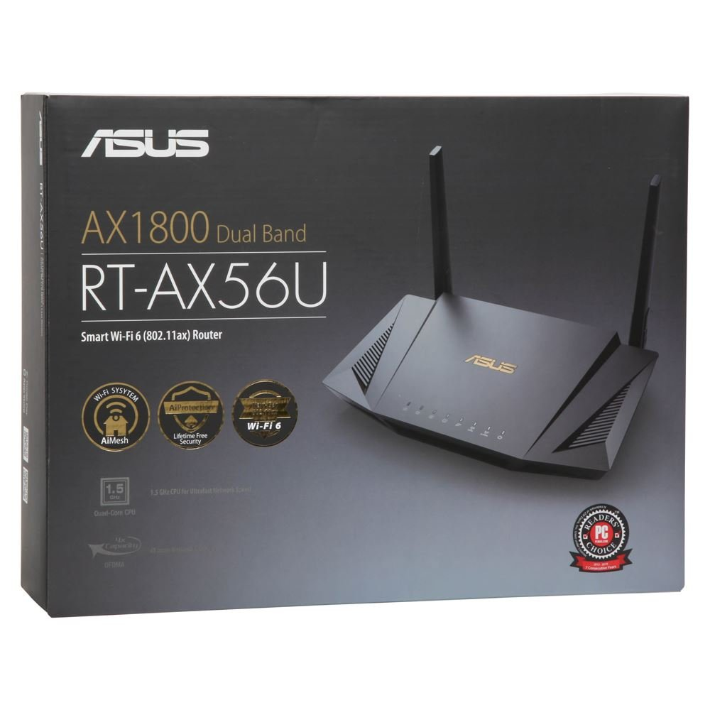 ASUS AX1800 Dual Band WiFi 6 (802.11ax) Router supporting MU-MIMO and OFDMA technology